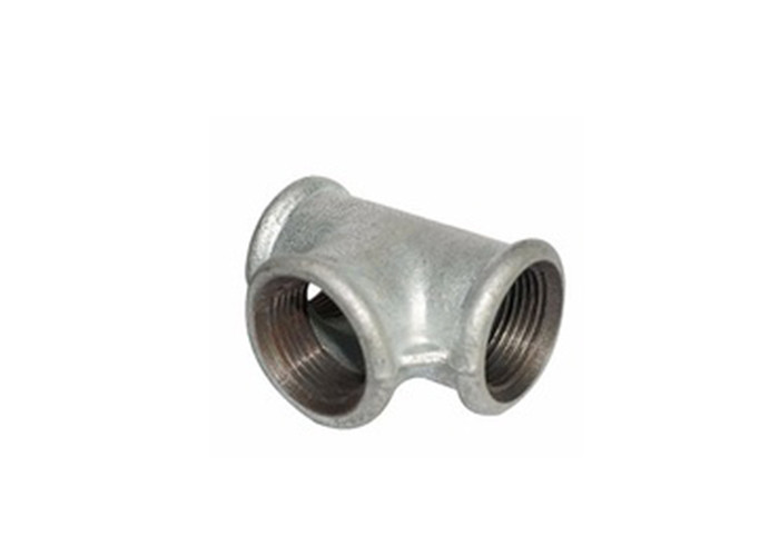 Female Connection Cast Iron Gas Pipe Fittings , Gas Pipe Tee Fittings 4x11/4  Inch
