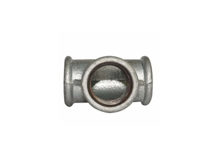Mechanical Malleable Iron Tee 4 Inch Cast Iron Pipe Fittings 81mm Dimensions